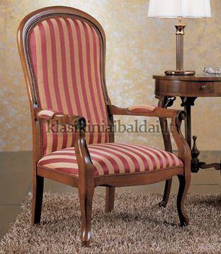 Klasikiniai svetaines baldai art 0216P Krėslas
