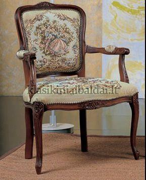 Klasikiniai svetaines baldai art 0243P Krėslas