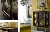 Klasikiniai svetaines baldai Vitrinos art V585 Vitrina