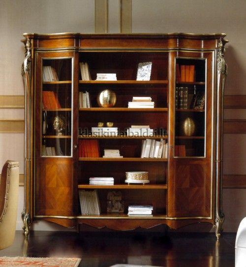 Klasikinio stiliaus baldai art 0237/N  Knygų spinta