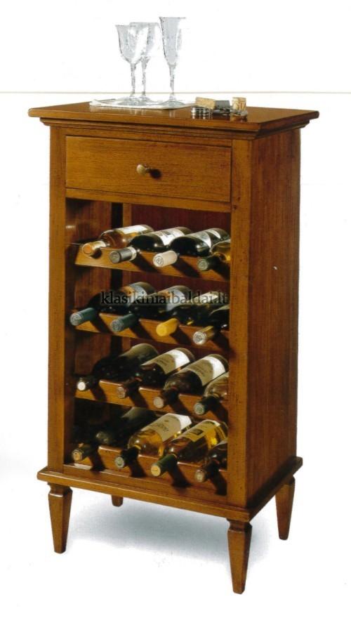 Klasikinio stiliaus baldai art 1214/A Vyno spintelė