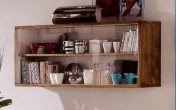 Klasikinio stiliaus baldai Knygų lentynos art 3262/A Lentyna su stiklu