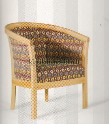 Klasikinio stiliaus interjeras art 0160P Fotelis